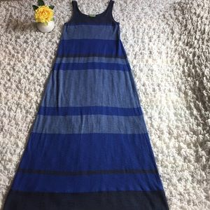 Vince blue stripe maxi dress- size Small